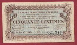 50 Centimes   Chambre De Commerce D'Auxerre     Dans L 'état (36) - Chambre De Commerce