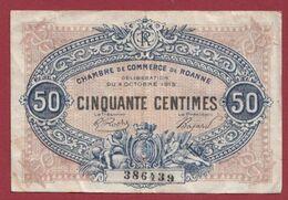 50 Centimes  Chambre De Commerce De Roanne Dans L 'état (38) - Chambre De Commerce
