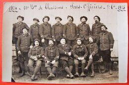 Rare Photo Carte . Sous Officiers Chasseurs Alpins 1914-1915.  62ème Bataillon. Haute Savoie. - Guerre 1914-18