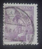 1939 España Edifil 877 USADO General Franco Con Apellido Del Grabador - 1931-Aujourd'hui: II. République - ....Juan Carlos I