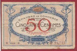 50 Centimes  Chambre De Commerce De Roanne    Dans L 'état (41) - Chambre De Commerce
