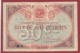 50 Centimes  Chambre De Commerce De Nantes  (Sign #)  Dans L 'état (42 Bis) - Chambre De Commerce