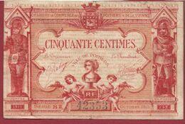 50 Centimes  Chambre De Commerce De Poitiers  Dans L 'état (43) - Chambre De Commerce