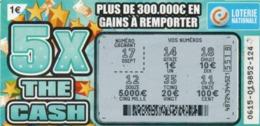 LUXEMBOURG / BILLET DE LOTERIE NATIONALE / RASPADINHA THE CASH - Biglietti Della Lotteria