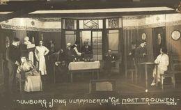 RPPC  Münster I. Westfalen SCHOUWBURG JONG VLAANDEREN THEATRE TEATRO TONEEL GOTTINGEN? KRIEGSGEFANGENEN WWICOLLECTION - Guerre 1914-18
