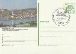 """Bundesrepublik Deutschland / 1980 / Bildpostkarte """"VILSHOFEN"""" Mit Bildgleichem Stempel (CJ18) - [7] Federal Republic"""