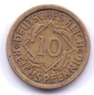 DEUTSCHES REICH 1925 F: 10 Reichspfennig, KM 40 - [ 3] 1918-1933 : Republique De Weimar