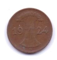 DEUTSCHES REICH 1924 D: 1 Rentenpfennig, KM 30 - [ 3] 1918-1933 : Republique De Weimar