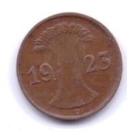 DEUTSCHES REICH 1923 D: 1 Rentenpfennig, KM 30 - [ 3] 1918-1933 : Republique De Weimar