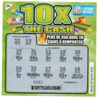 LUXEMBOURG / BILLET DE LOTERIE NATIONALE / RASPADINHA 10X THE CASH - Biglietti Della Lotteria