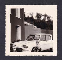 Photo Originale Vintage Snapshot Oldtimer Car Voiture Automobile Citroen AMI Enfant Les Mazures Ardennes ( 42870) - Automobiles