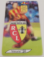 Télécarte - LE FOOTBALL - Racing Club De Lens - Sport