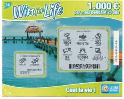 LUXEMBOURG / BILLET DE LOTERIE NATIONALE / RASPADINHA WIN For LIFE - Biglietti Della Lotteria