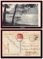 1944 Italy Italia Cartolina Maccagno Vg X Venegono Sup. Tassata C20 In RSI Taxed GNR Postcard - Marcophilia