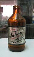AC - TUBORG BEER EMPTY GLASS VINTAGE BOTTLE - Birra