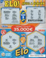 LUXEMBOURG / BILLET DE LOTERIE NATIONALE / RASPADINHA ELO - Biglietti Della Lotteria