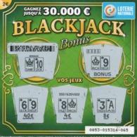 LUXEMBOURG / BILLET DE LOTERIE NATIONALE / RASPADINHA BLACKJACK - Biglietti Della Lotteria