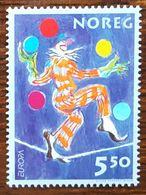 Norvège - YT N°1389 - Europa / Le Cirque - 2002 - Neuf - Norwegen