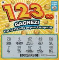 LUXEMBOURG / BILLET DE LOTERIE NATIONALE / 123 GAGNEZ - Biglietti Della Lotteria