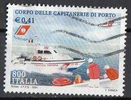 """Italia 2001 Uf. 2590 """"Le Istituzioni"""" - Corpo Delle Capitanerie Di Porto Used - 2001-10: Usati"""