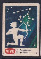 Netherland Space Weltraum Espace: Vivo Matchbox Label; Astronomy; Stars; Sagittarius; Archery - Zündholzschachteletiketten