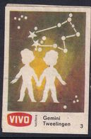 Netherland Space Weltraum Espace: Vivo Matchbox Label; Astronomy; Stars; Gemini; - Zündholzschachteletiketten