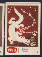 Netherland Space Weltraum Espace: Vivo Matchbox Label; Astronomy; Stars; Draco, Daragon - Zündholzschachteletiketten