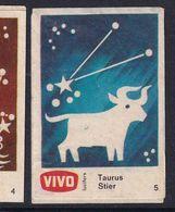 Netherland Space Weltraum Espace: Vivo Matchbox Label; Astronomy; Stars; Taurus Bull; Small Size - Zündholzschachteletiketten