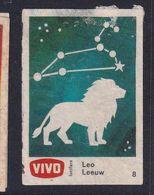 Netherland Space Weltraum Espace: Vivo Matchbox Label; Astronomy; Stars; Leo Lion Löwe - Zündholzschachteletiketten