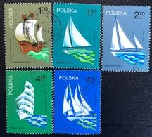 Polska - Poland - P2/4 - (°)used - 1974 - Michel Nr. 2317#2321 - Beroemde Poolse Zeilschepen - 1944-.... Republic