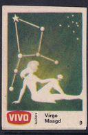 Netherland Space Weltraum Espace: Vivo Matchbox Label; Astronomy; Stars; Virgo Virgin - Zündholzschachteletiketten