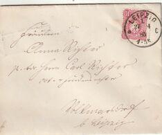 """Deutsches Reich / 1885 / Brief EF K1 """"LEIPZIG"""" (CJ45) - Covers & Documents"""