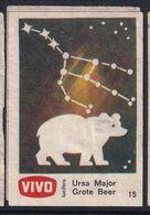Netherland Space Weltraum Espace: Vivo Matchbox Label; Astronomy; Stars; Ursa Major; Bear; Bär - Zündholzschachteletiketten