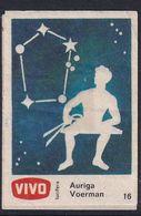 Netherland Space Weltraum Espace: Vivo Matchbox Label; Astronomy; Stars; Auriga - Zündholzschachteletiketten