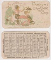 Carte Parfums ERASMIC Paris .Calendrier 1922. - Calendriers