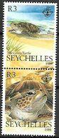 SEYCHELLES    -     1988  .    TORTUES  .    Neufs **  Se Tenant. - Seychelles (1976-...)