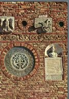 °°° Cartolina - Abbazia Di Pomposa Atrio Della Chiesa Residuo Di Carta Incollata Nuova °°° - Ferrara