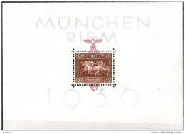 """Deutsches Reich 1937: """"DAS BRAUNE BAND"""" München-Riem  Mi 649 ** MNH Block 10 * MLH (Michel-Junior 65.00 Euro) - Hípica"""