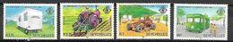 SEYCHELLES    -     1982  . Série  BIBLIOBUS  /  CLINIQUE DENTAIRE MOBILE  /  TRACTEURS .    Neufs ** - Seychelles (1976-...)