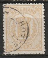 1869 Rijkswapen 2 Ct.  13,25x13,25 NVPH 17C Kleine Gaten - Oblitérés