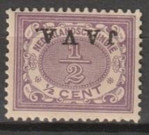 Ned Indie 1908 Wilhelmina JAVA Kopstaand NVPH 63f Ongestempeld. - Niederländisch-Indien