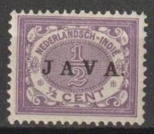Ned Indie 1908 Wilhelmina JAVA Ongestempeld. NVPH 63 MLH * - Niederländisch-Indien