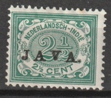 "Ned Indie 1908 Wilhelmina 2,5 Ct ""JAVA"" NVPH 66 MH* Ongestempeld - Niederländisch-Indien"