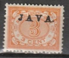 """Ned Indie 1908 Wilhelmina 3 Ct """"JAVA"""" Hoogstaand NVPH 67a Ongestempeld - Niederländisch-Indien"""