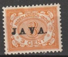 "Ned Indie 1908 Wilhelmina 3 Ct ""JAVA"" NVPH 67 Ongestempeld - Niederländisch-Indien"
