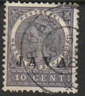 """Ned Indie 1908 Grootrondstempel """"PROBOLINGO"""" Op Wilhelmina 10 Ct """"JAVA"""" NVPH 70 - Niederländisch-Indien"""
