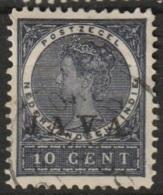 """Ned Indie 1908 Wilhelmina 10 Ct """"JAVA"""" NVPH 70 Gestempeld - Niederländisch-Indien"""