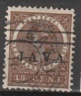 """Ned Indie 1908 Wilhelmina 15 Ct """"JAVA"""" NVPH 72 Gestempeld - Niederländisch-Indien"""
