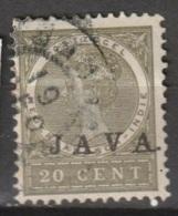 """Ned Indie 1908 Wilhelmina 20 Ct """"JAVA"""" NVPH 74 Gestempeld - Niederländisch-Indien"""