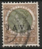 """Ned Indie 1908 Wilhelmina 22.5 Ct """"JAVA"""" NVPH 75 Gestempeld - Niederländisch-Indien"""